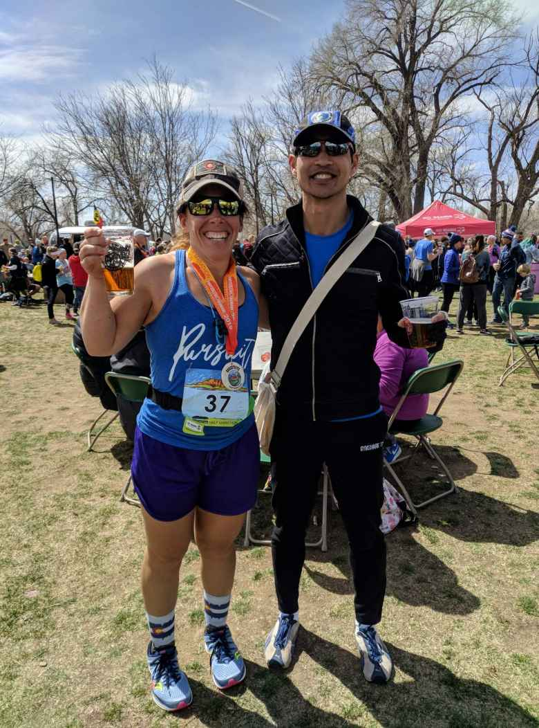 Me and my good friend Jennifer at the finish.