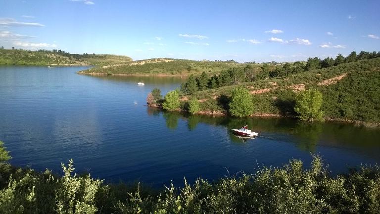 Powerboat at Satanka Cove.