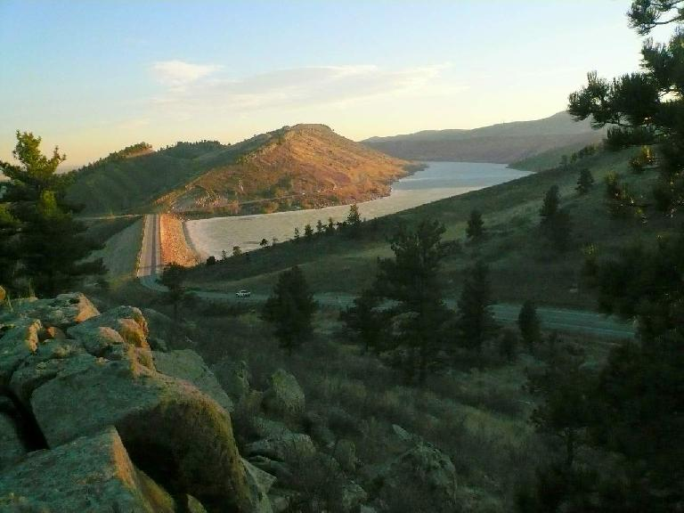 View of the Horsetooth Reservoir.
