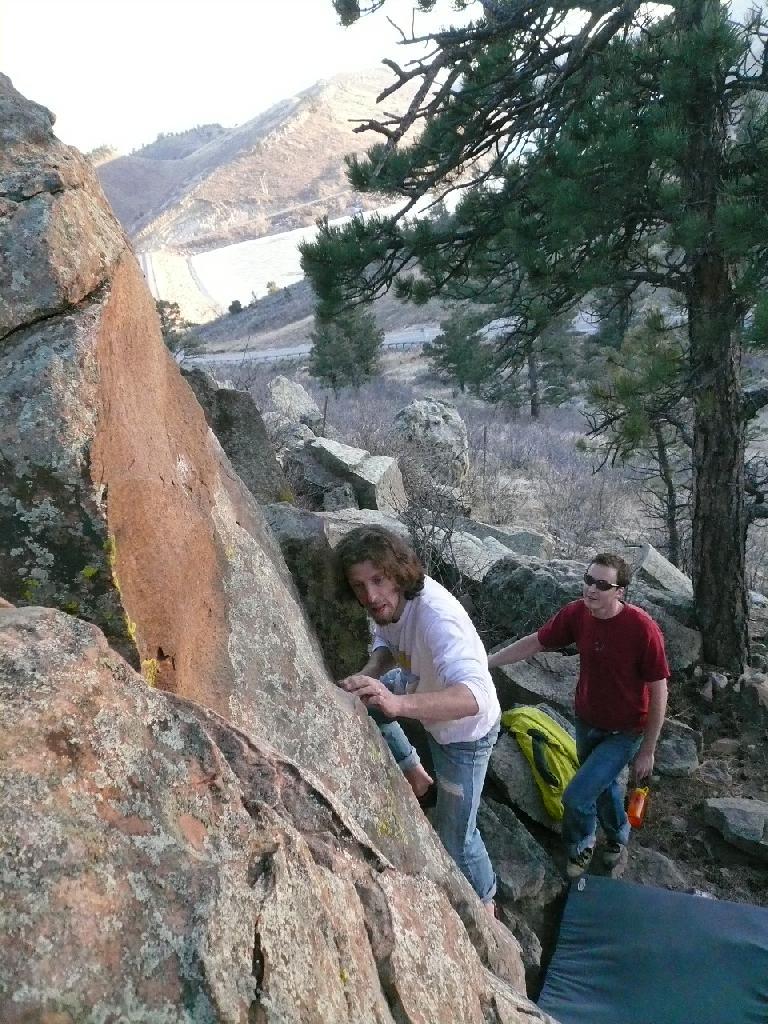 Nick on a boulder problem.