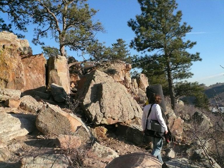 Lots of rock to boulder on up here, just across the road (CR-23) from Duncan's Ridge in Fort Collins.