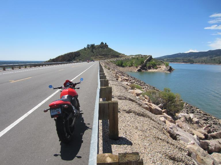 Centennial Rd. is one of my favorite local roads to go motorcycling on.  Just one more reason to climb by the Horsetooth Reservoir.