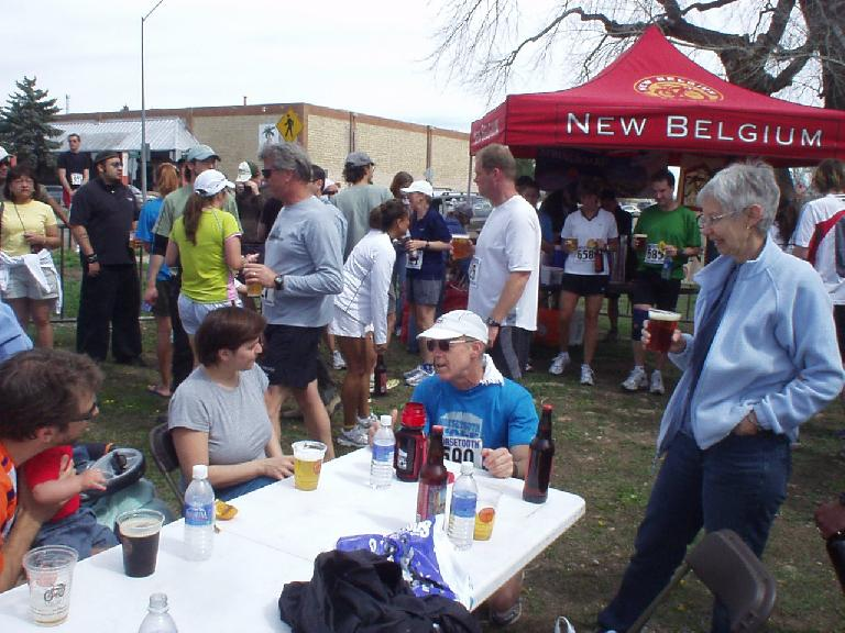 Doug and Marji were also here.  You can also see the all-important beer tent in the back.