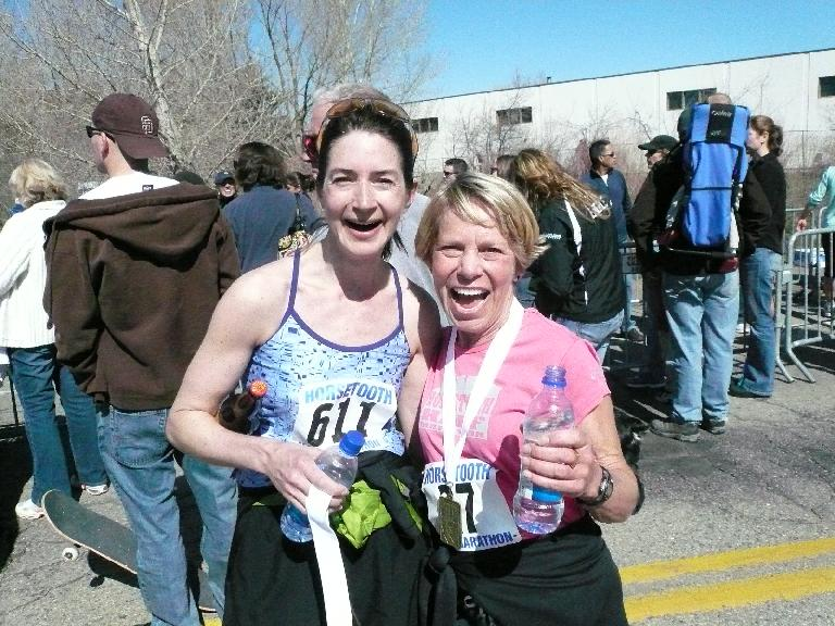 Cathy (right) won her age group again!