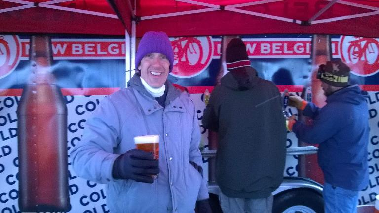 Bob was a volunteer at the New Belgium beer both.