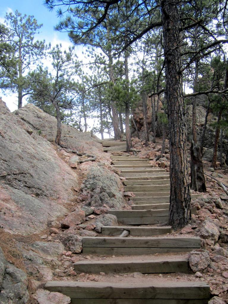 stairs on Horsetooth Rock Trail
