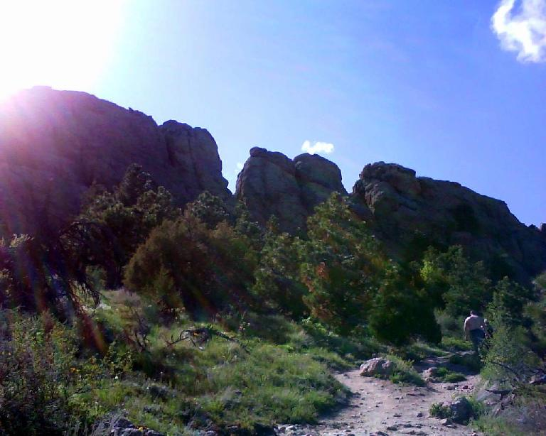 You can see how Horsetooth Rock got its name -- it looks like horse teeth.  We had a picnic on top of the rock.