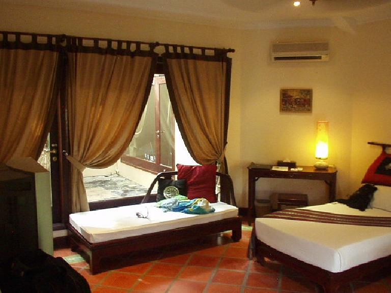 The room in Mui Ne where Kim, Nam, and I stayed up until 4:00am talking. (July 16, 2006)
