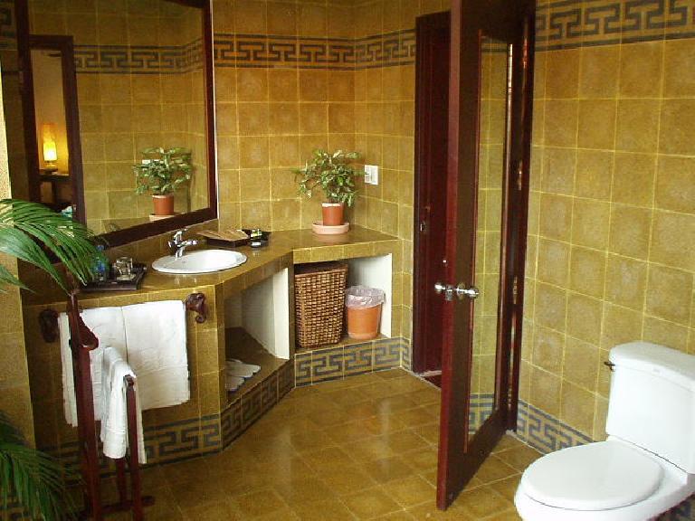 Bathroom at the resort in Mui Ne. (July 16, 2006)
