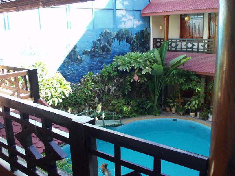 The nice indoor pool at Thinh Bin III was very welcome considering how hot Hoi An was. (July 6, 2006)