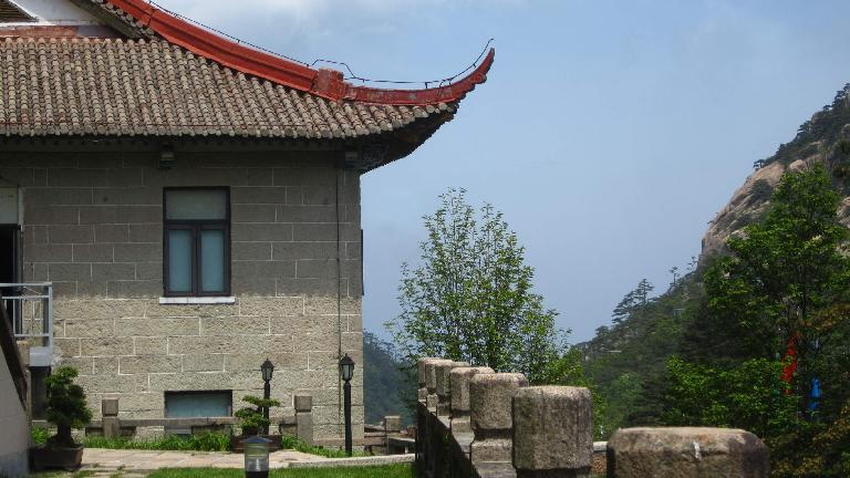 A building in the Huangshan Mountains.