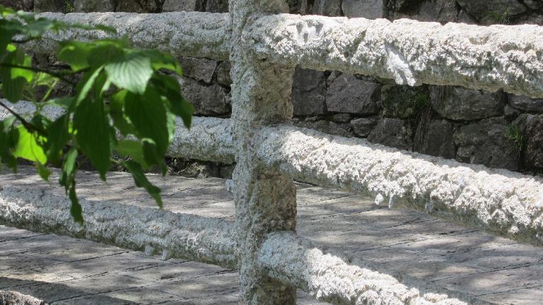 Stone fence.