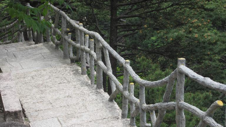 Fence in the Huangshan Mountains.