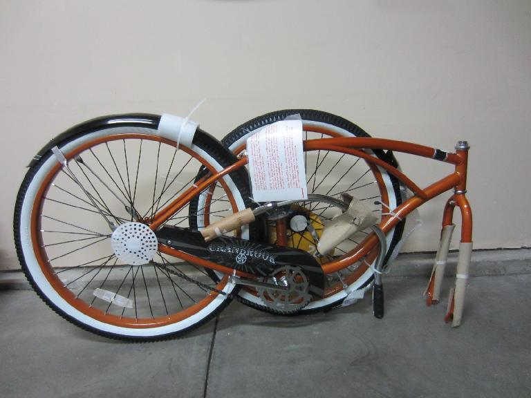 Unpacking the Huffy. (July 12, 2012)