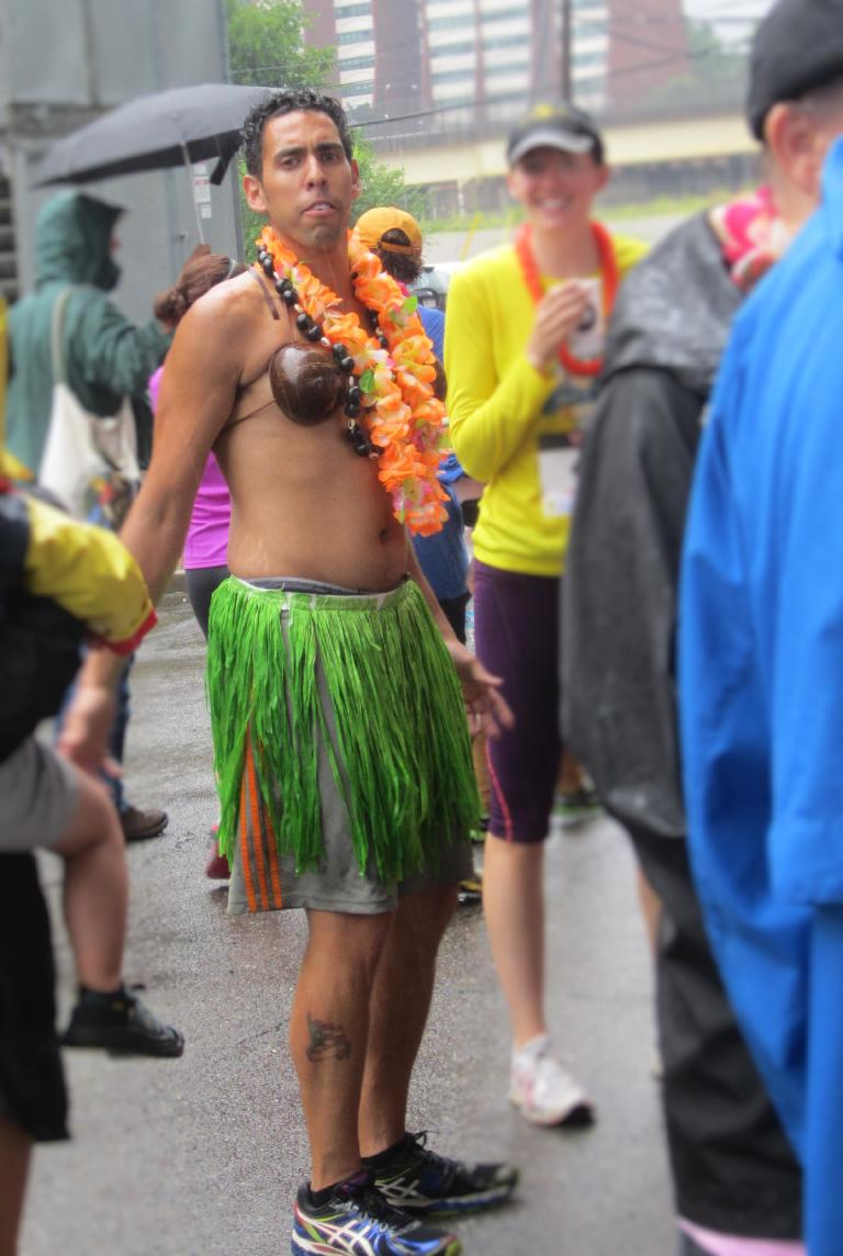 This guy had the luau spirit.