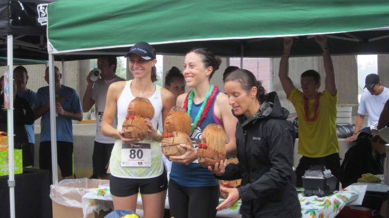 The female winners. I did not get chicked today!