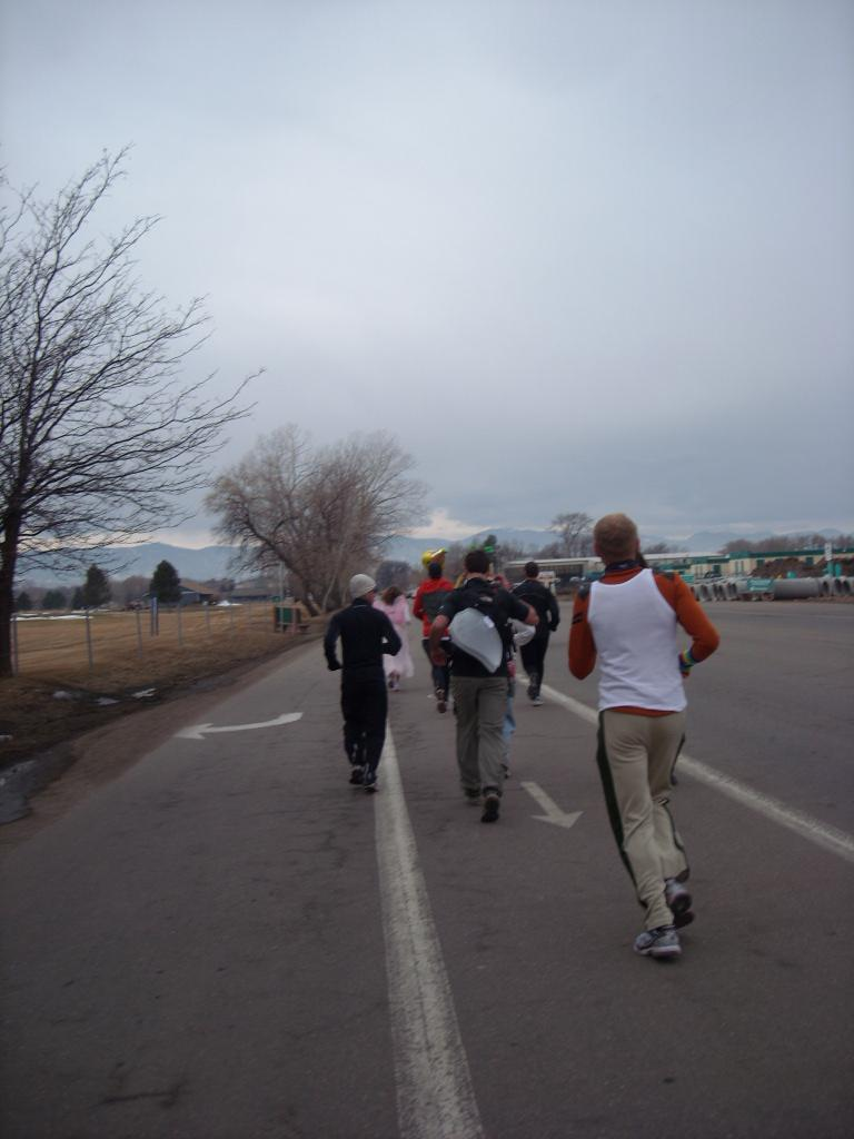 Running along Lincoln Avenue from Fort Collins Brewery to Odell's.