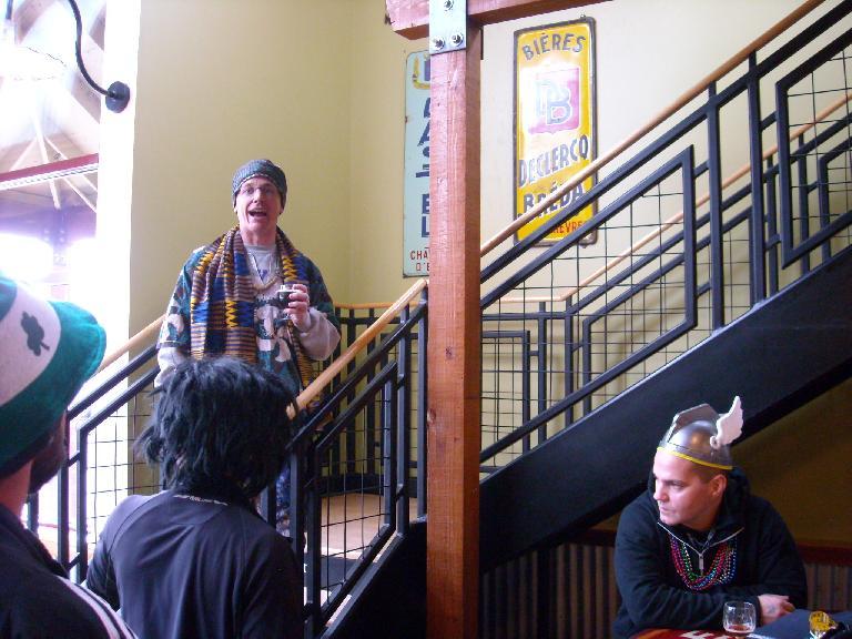 Scott, our fearless organizer, making an annoucement.