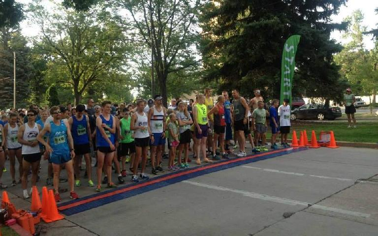 Lining up at the start of the Human Race. Note all the youngsters here. Photo: Green Events LLC.