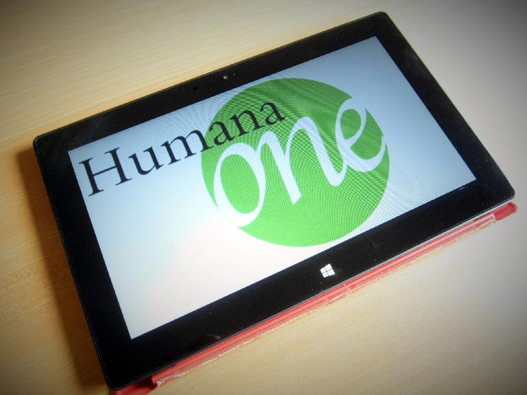 Humana One logo on tablet