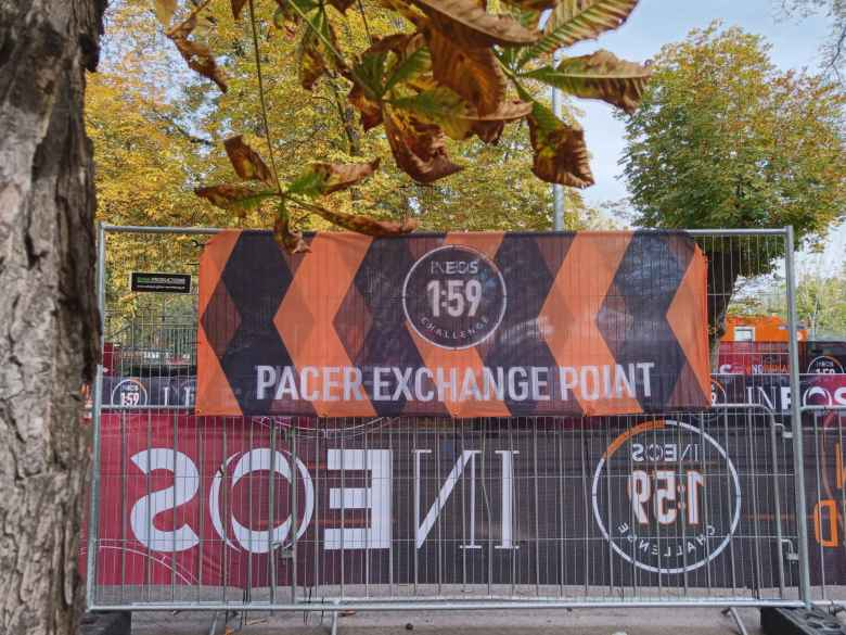 A Pacer Exchange Point in the INEOS 1:59 Challenge.