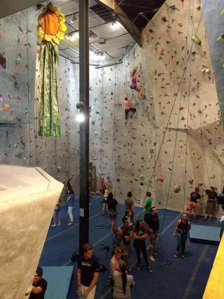 Last evening of climbing at Inner Strength Rock Gym.
