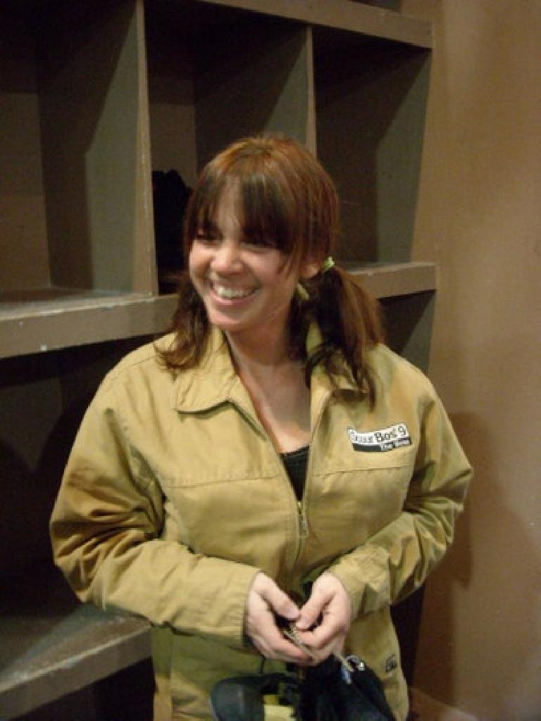 Tanya looking rather busty today. (November 27, 2009)