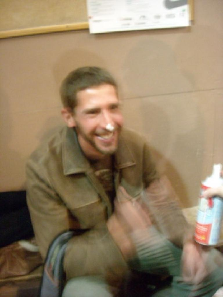 Jon and whipped cream. (November 27, 2009)