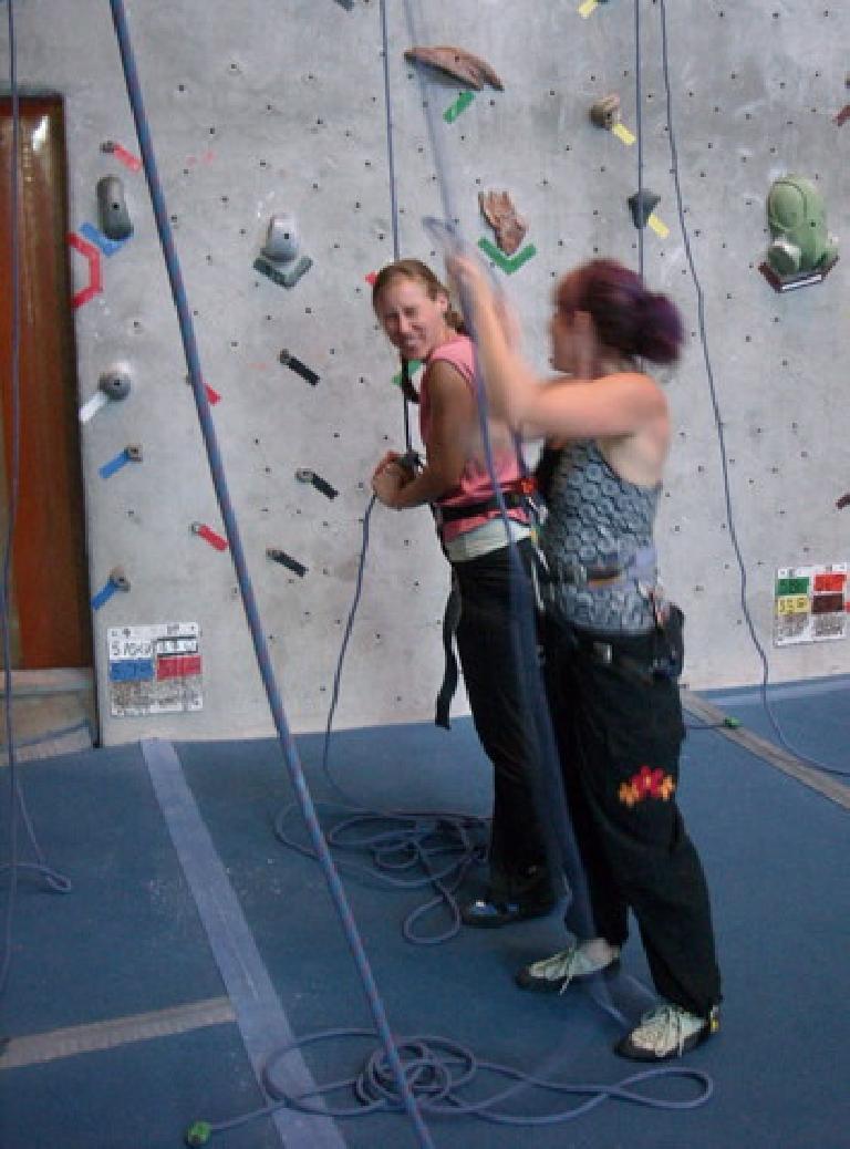 Rhea and Tanya at Inner Strength on my birthday. (June 26, 2009)