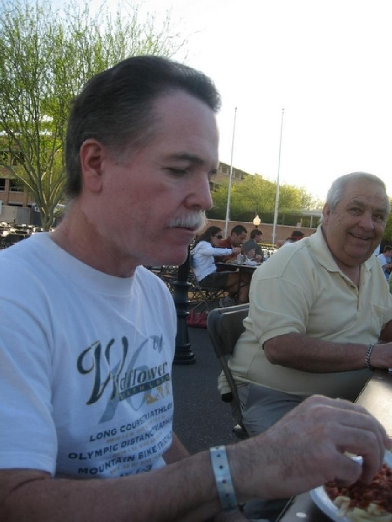 Phil enjoying his meal. Photo: Jose Cortez.