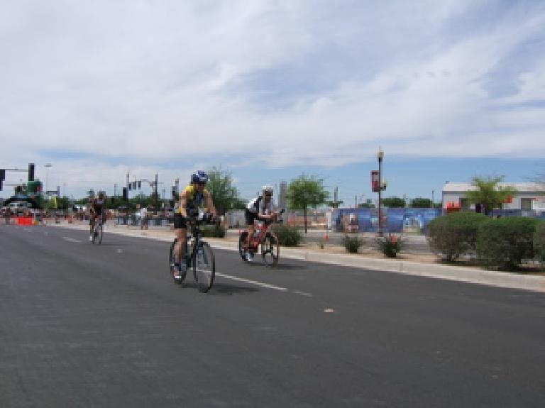 Sharon on the bike. Photo: Todd Aki.