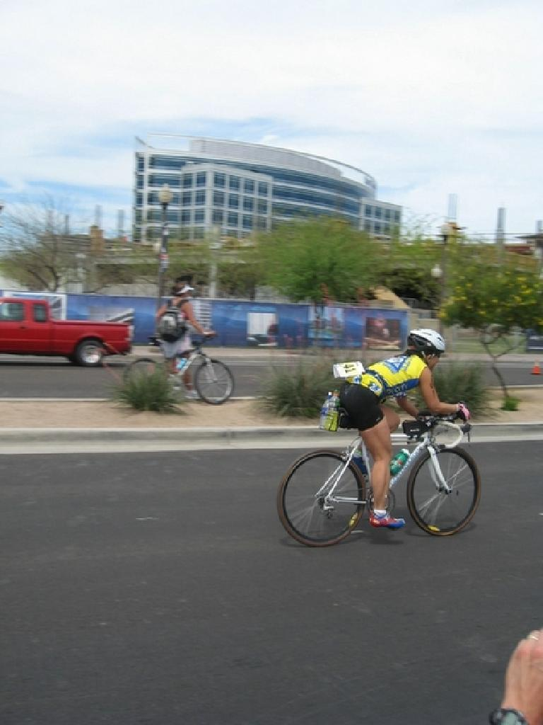 Bic on the bike. Photo: Stacey and Laura Cortez.
