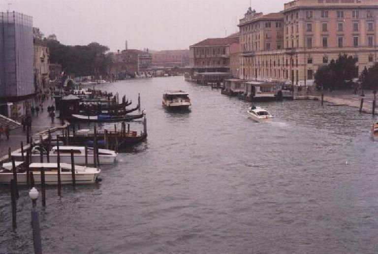 Vaporettos in Venice.