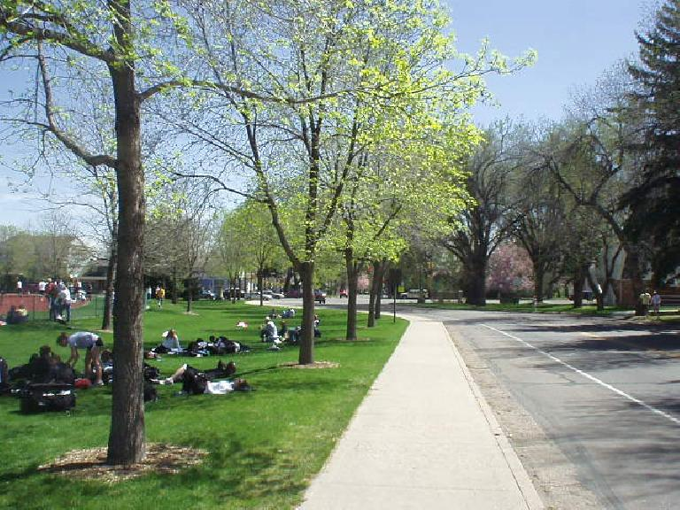 It was a gorgeous Saturday morning in Fort Collins with the trees blooming in April.  A great day for a track meet.