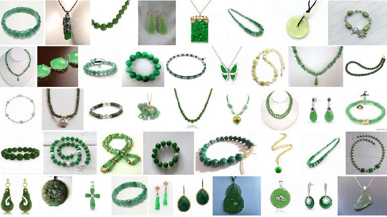 Jade jewelry (photo from a Bing image search).