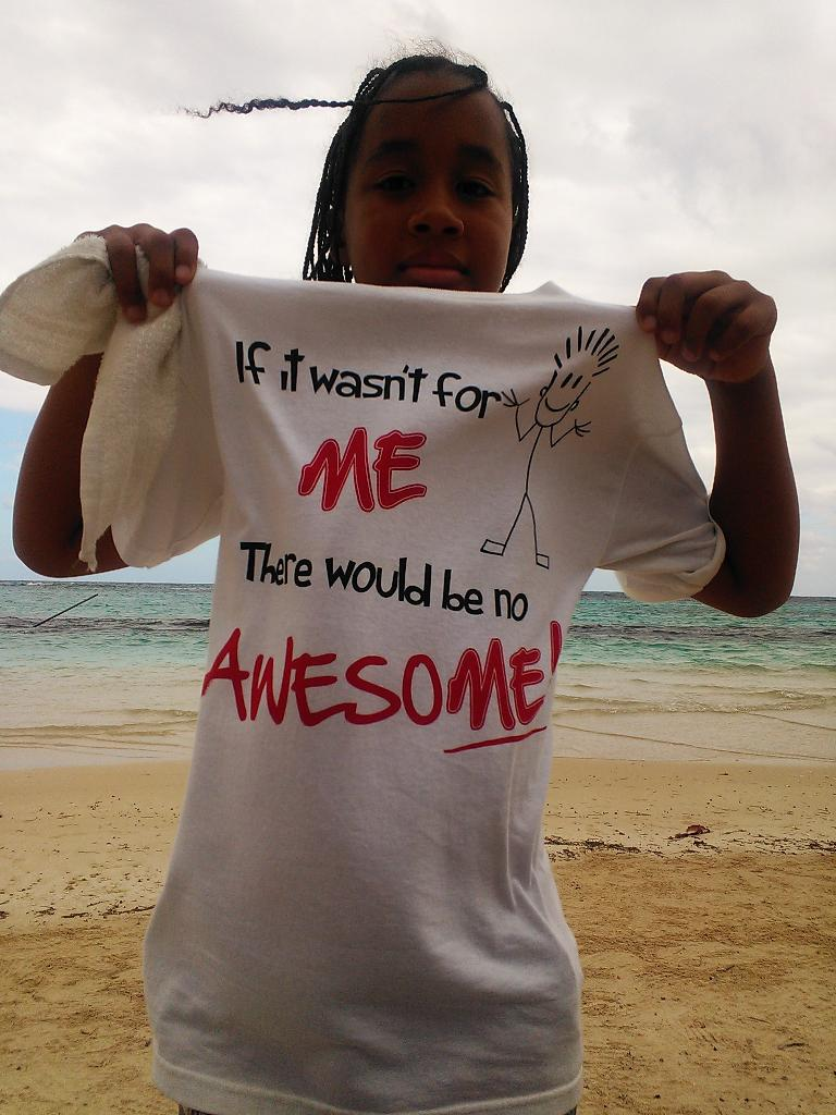A kid at Ocho Rios who kept wanting to play with us. (February 14, 2013)