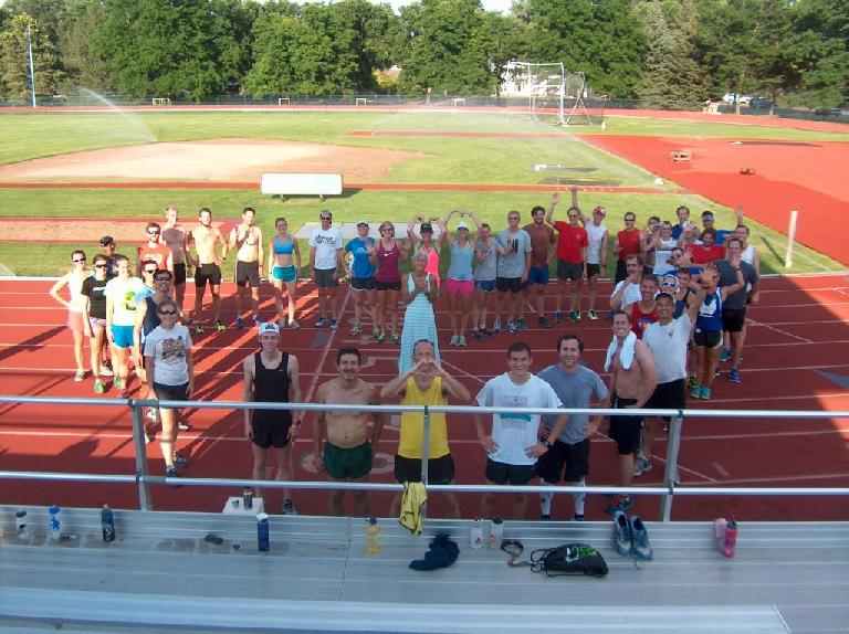Making a heart around Jane and letting her know that we loved her. Photo: Doug Mason.