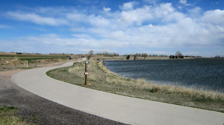 A trail and lake through Windsor.