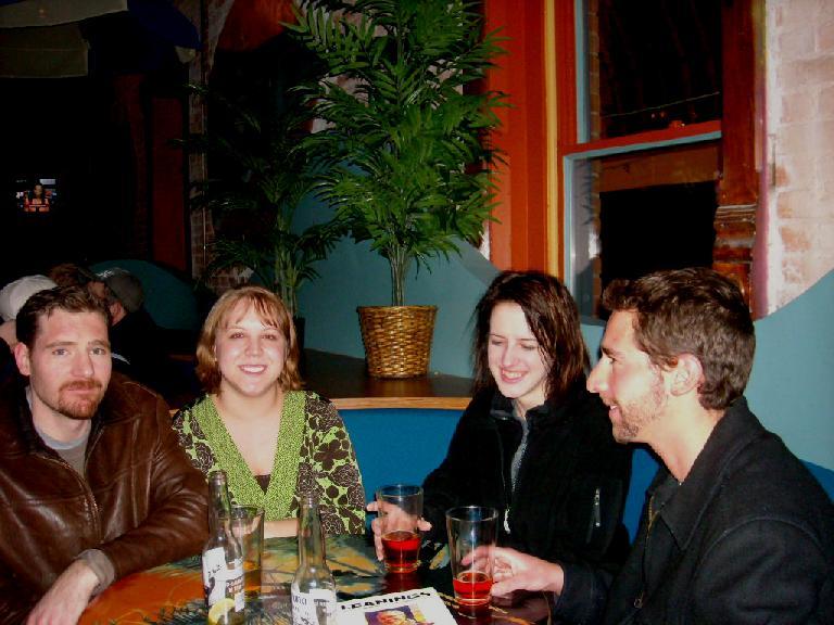 Louis, Liberty, Kitty, and Jon at Bondi's.