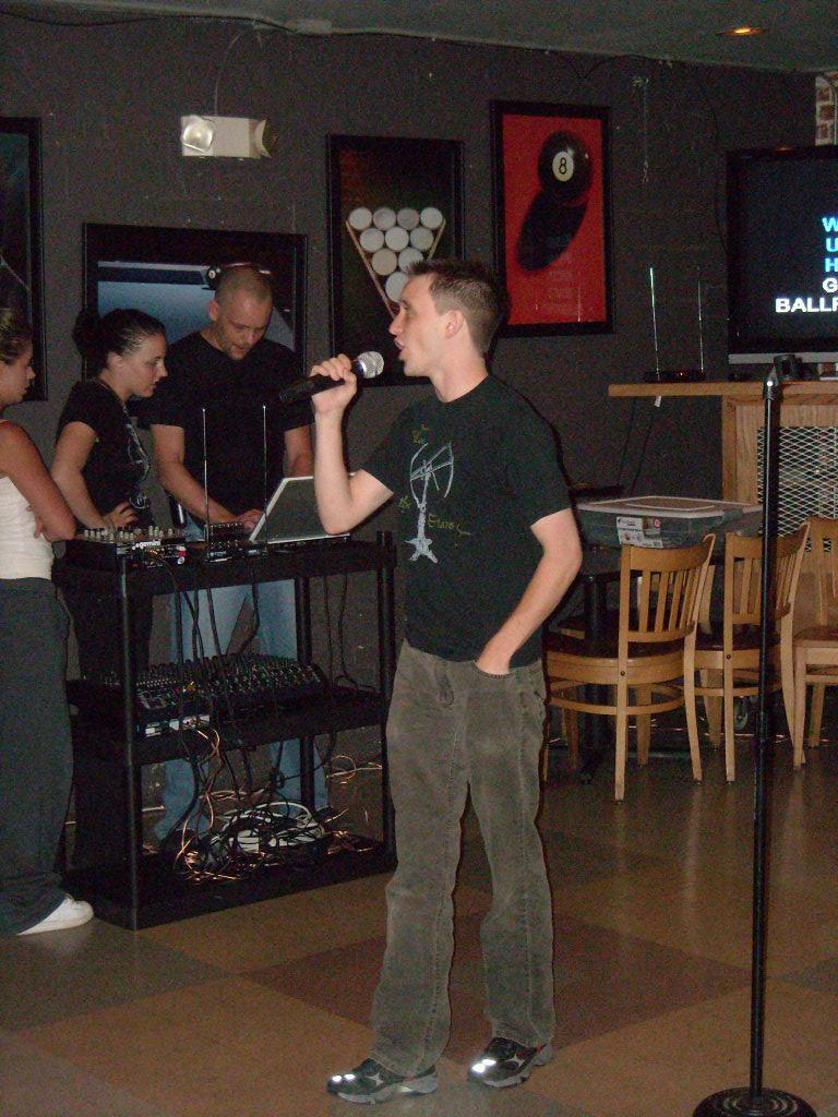 Brad singing.