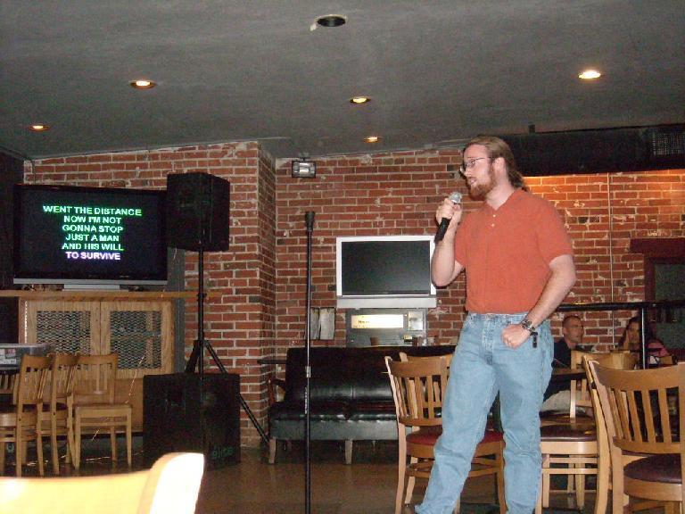 "Jesse singing ""Eye of the Tiger."""