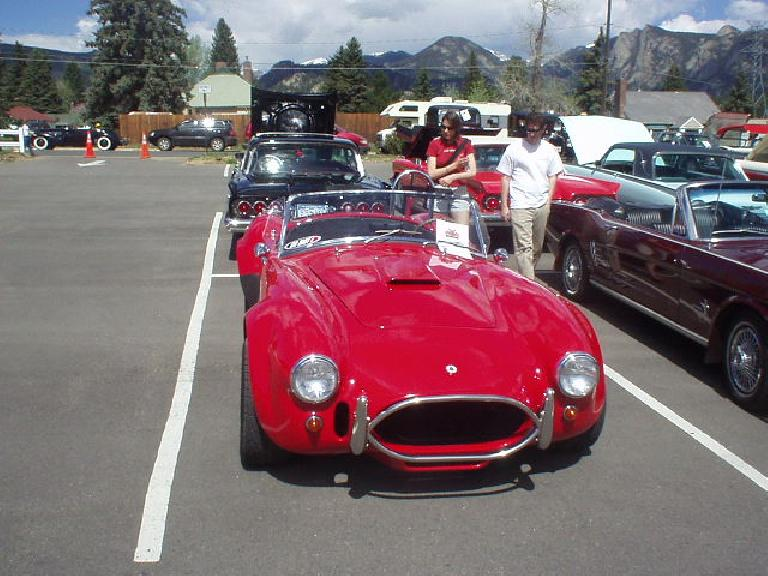 The Parade of Years Car Show in Estes Park was probably more for me, but it was on the way to the Rocky Mountain National Park and I think Kat and Guy enjoyed it too.