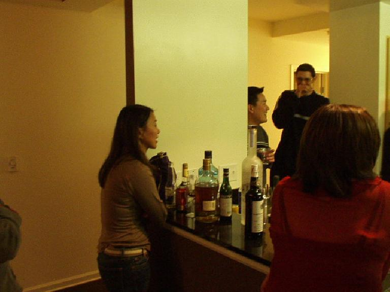 This was also a housewarming party for Kelly's girlfriend Jayne, who lives on the floor directly below him.