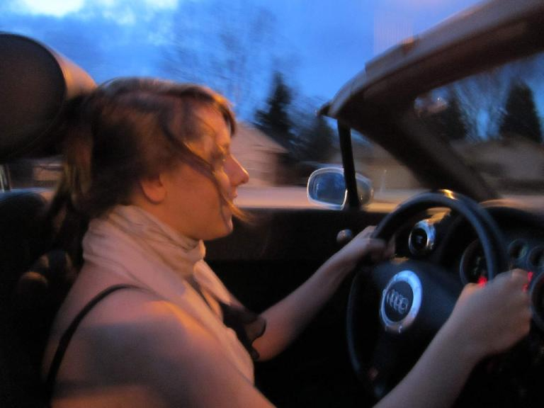 Speed Racer Kelly in my Audi TT.