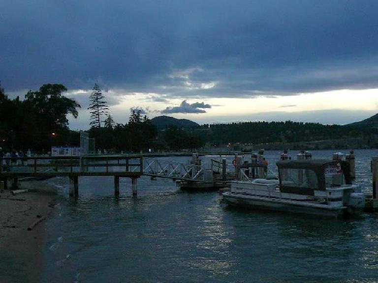 Harbor and beach.