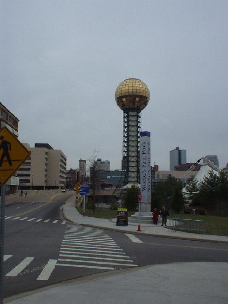 If you find yourself in Knoxville and looking for downtown, just look for the World's Fair Park Sunsphere.