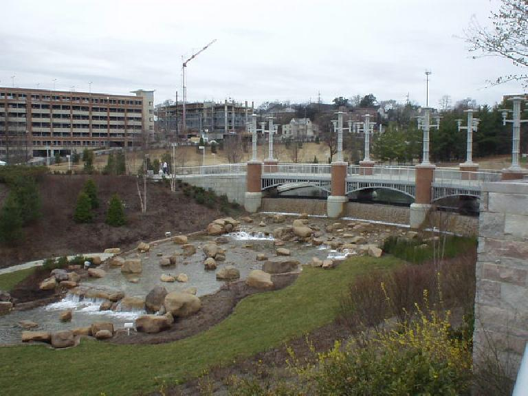 Knoxville was home of the World's Fair in 1982 and hence the name of the park located right next to the Knoxville Convention Center, which this bridge leads to.