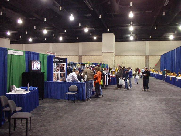 The pre-marathon expo was held on Saturday at the Knoxville Convention Center.  It was somewhat small (compared to, say, the California International Marathon Expo) and somewhat disappointing.