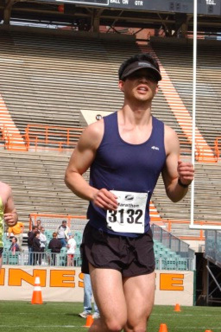 However, by the time I entered Neyland Stadium (and actually well before that) for the finish, my legs were feeling like crap! Photo: asiorders.com.