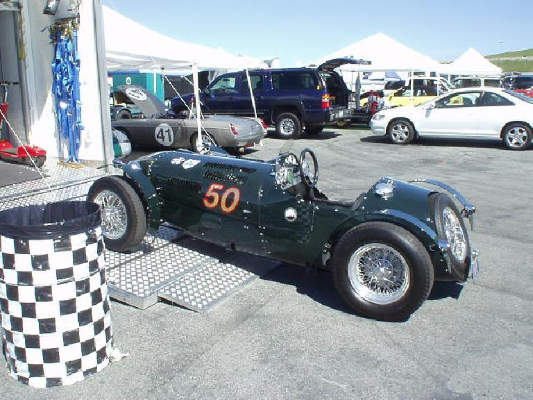 A British racing green MG R1, which was pretty dominating during the races later in the day.